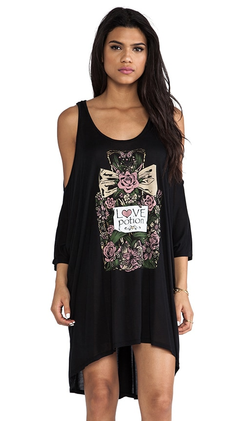 Gayle Color Love Perfume Open Shoulder Dress