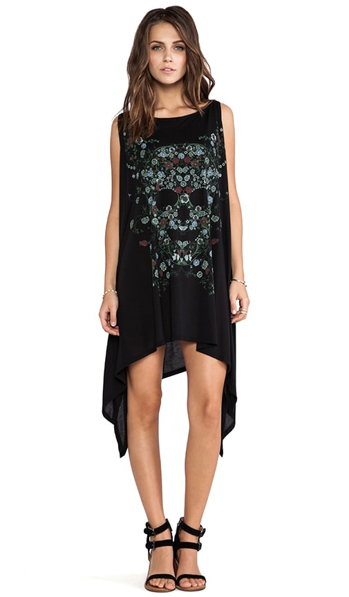 Ella Garden Skull Cape Dress