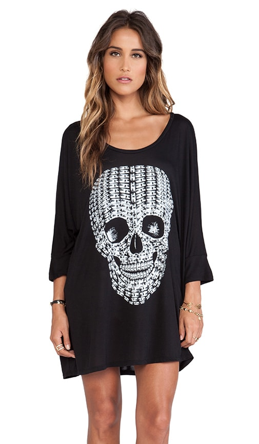 Milly No Color Pill Skull Oversized Dress