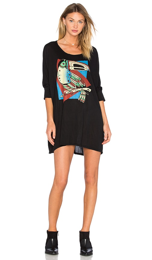 Lauren Moshi Milly Oversized Shirt Dress in Black