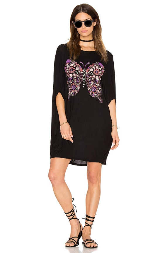 Lauren Moshi Freida Draped Tunic in Black