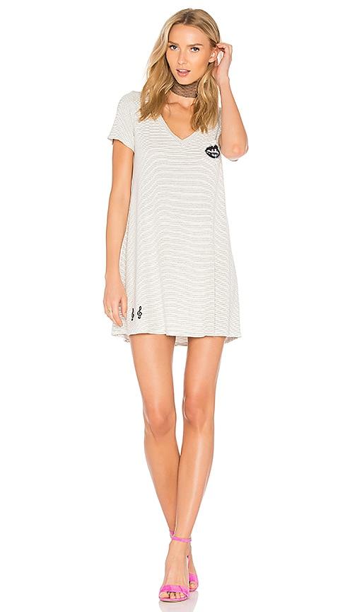 Lauren Moshi Nessa Piano Mouth Dress in White