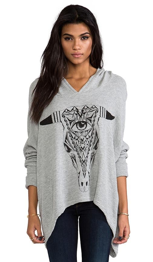 Wilma Large Aztec Bull Hoodie Sweater