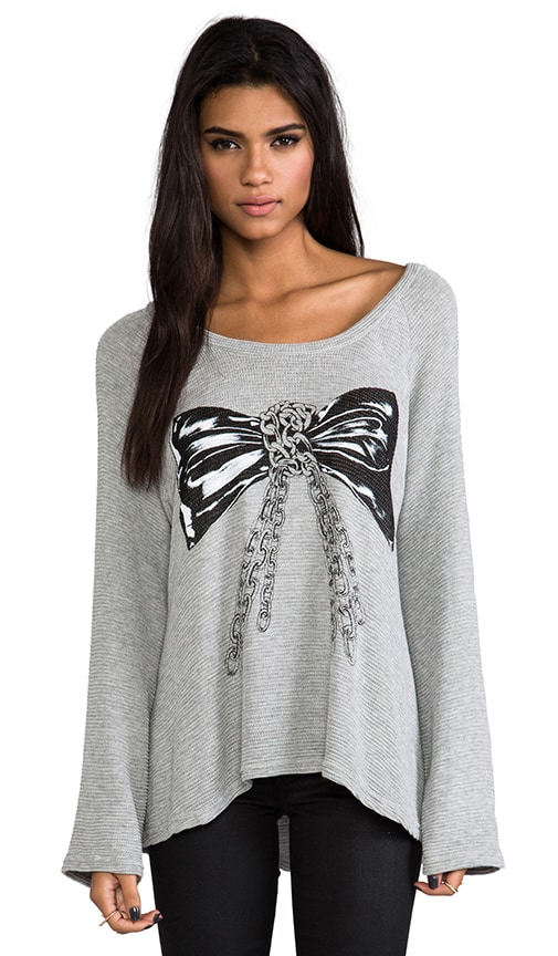Kenna Color Chain Bow Knit Pullover