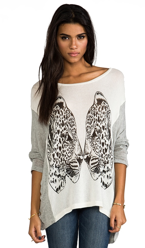 Nina Large Mirror Leopards Sweater