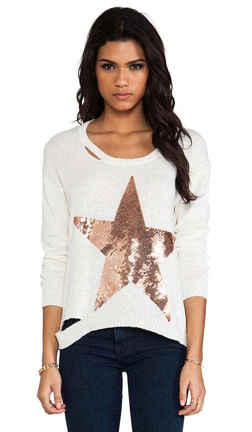 Jewel Sequin Stripe Star Sweater