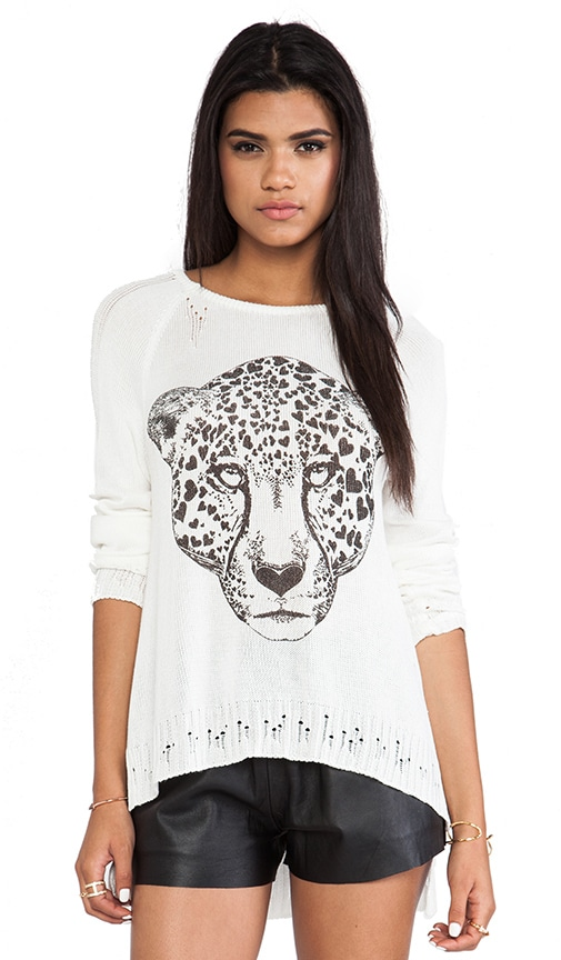Helena Heart Leopard Head Sweater