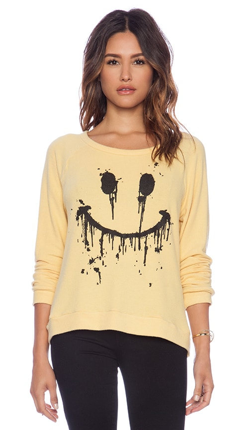 Brenna Dripping Happy Face Pullover