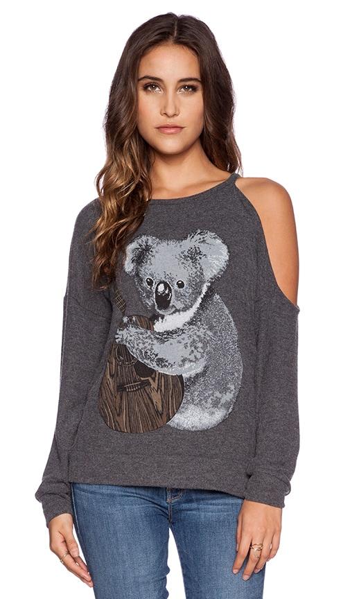 Quinn Koala One Shoulder Open Pullover