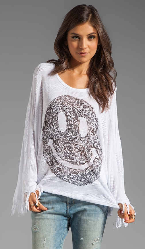 Kimbra Gun Happy Face Sweater