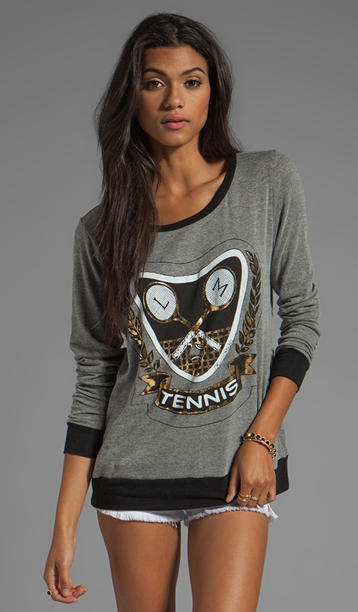 Raina Foil Tennis Sweater