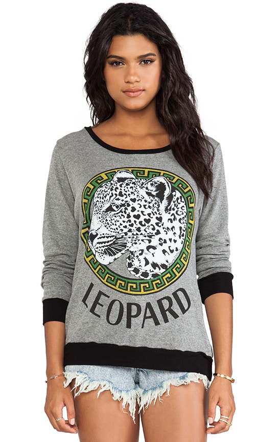 Raina Color Leopard Medallion Sweater