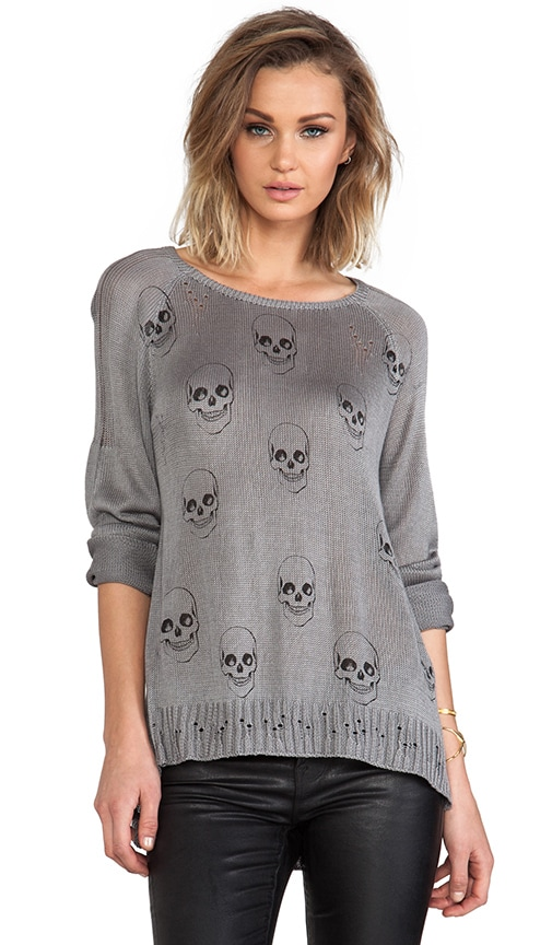 Helena Mini Skull Face Sweater