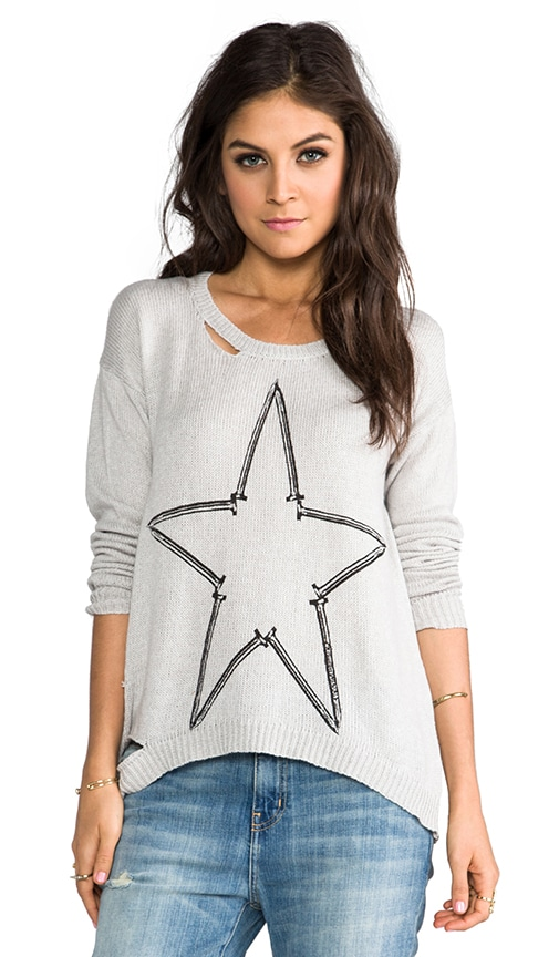 Jewel Nail Star Sweater