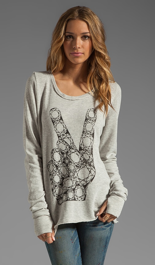 Kallie Peace Diamond Thumb Hole Sweatshirt
