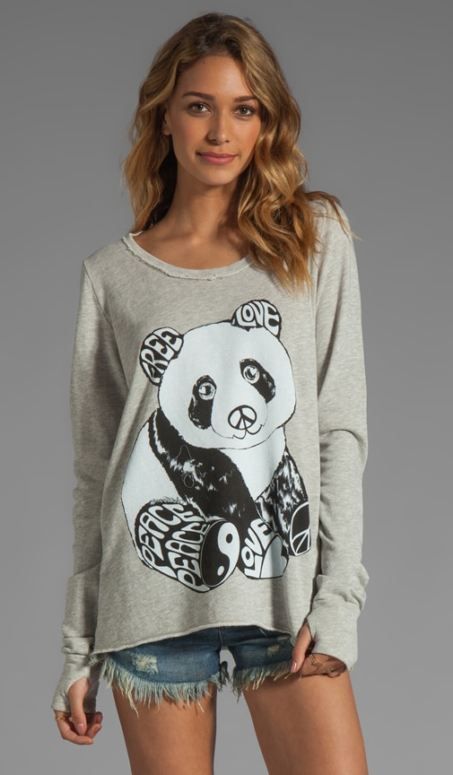 Kallie Color Luv Panda Thumb Hole Sweatshirt