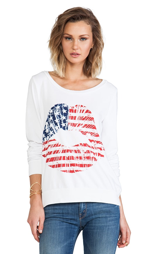 Jet Color Flag Lip Sweatshirt