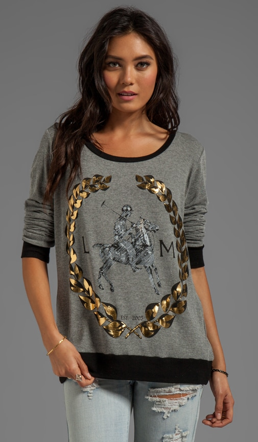 Raina Foil LM Crest Pullover Sweater
