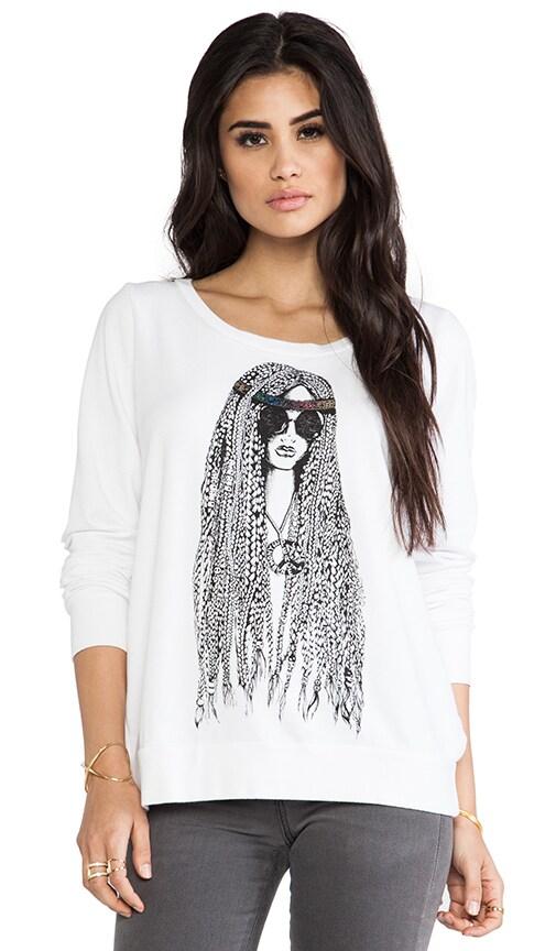 Jet Foil Hippie Pullover Sweatshirt