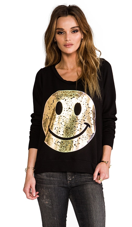 Jet Foil Diamond Happyface Sweatshirt
