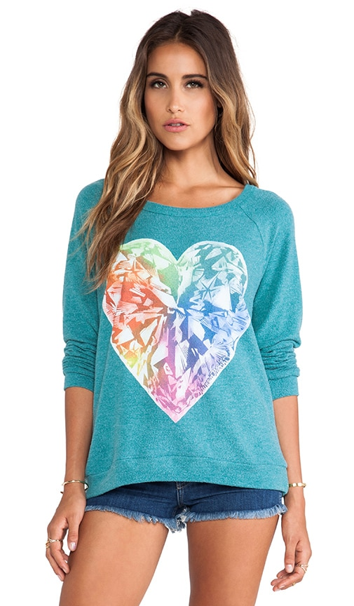 Brenna Bright Diamond Heart Pullover