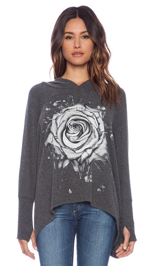 Wilma Watercolor Rose Pullover Hoodie
