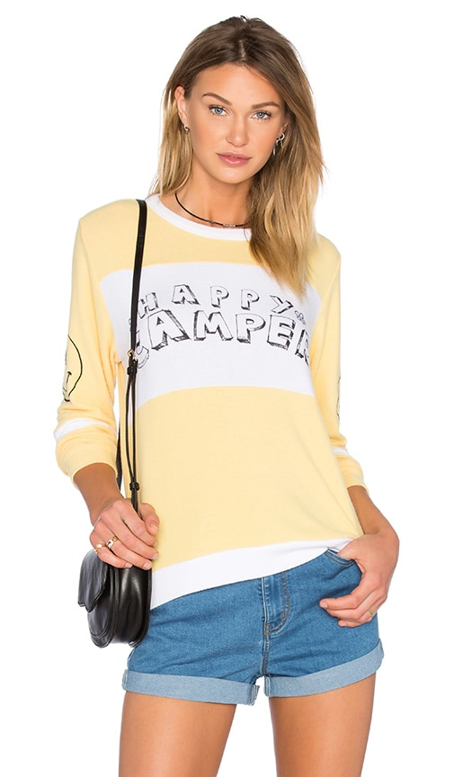 Lauren Moshi Callisto Colorblock Pullover in Pineapple & White