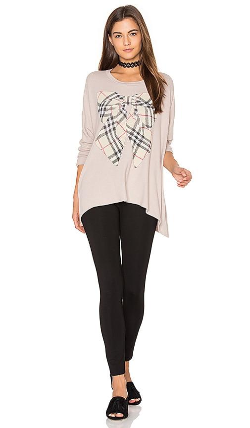 Lauren Moshi Mira Oversized Pullover in Beige