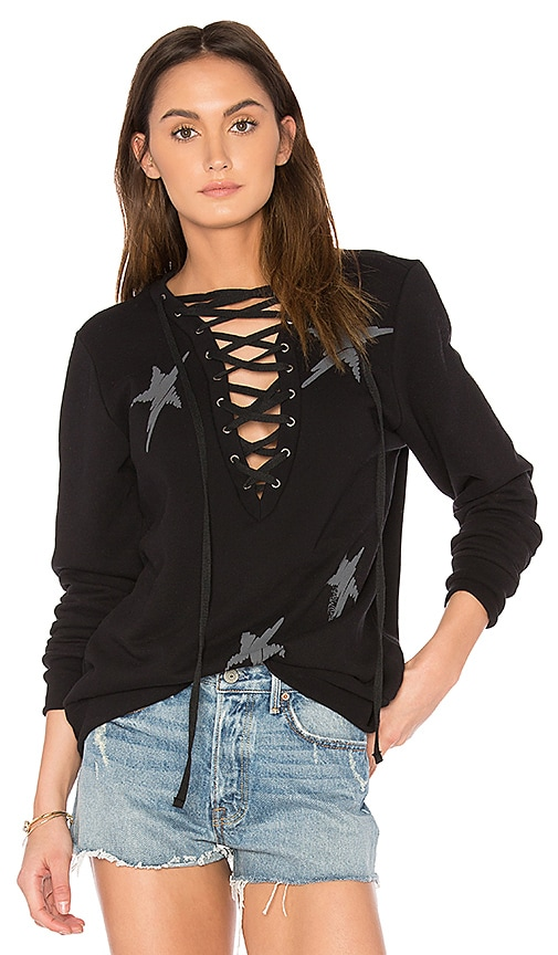 Lauren Moshi Abegail Pullover in Black