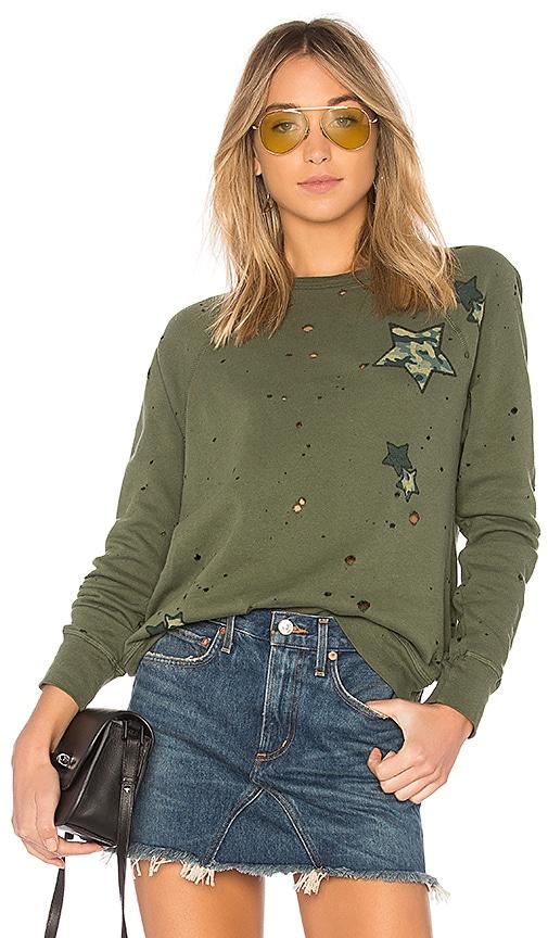 Lauren Moshi Darby Vintage Pullover Sweatshirt in Green