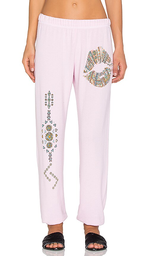 Lauren Moshi Pattern Lip With Tribal Leg Pant in Tickle Pink