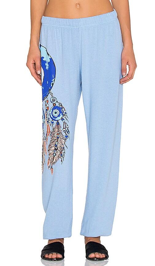 Lauren Moshi Large Evil Eye Dreamcatcher Pant in Vintage Blue