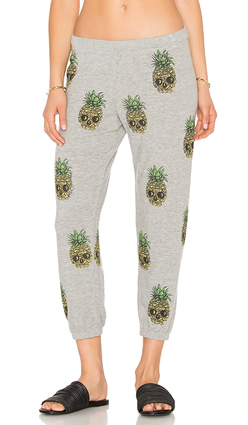 Lauren Moshi Alana Crop Sweatpant in Gray