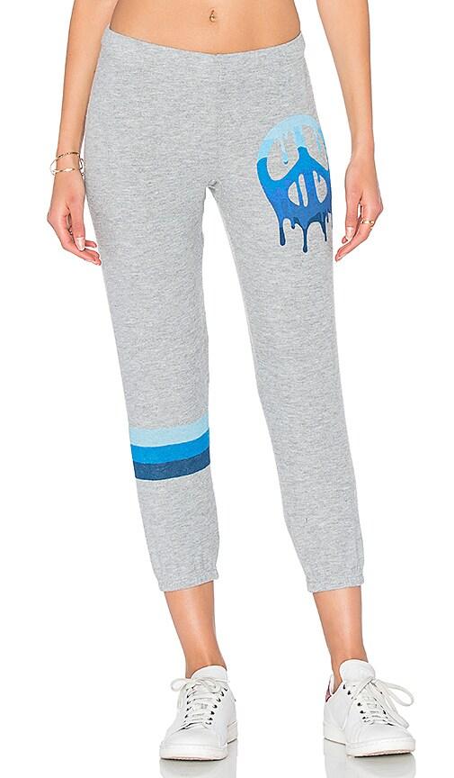 Lauren Moshi Alana Crop Sweatpant in Gray