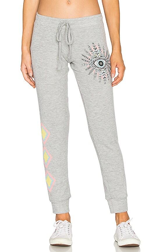 Lauren Moshi Kizzy Cuffed Sweatpant in Grey