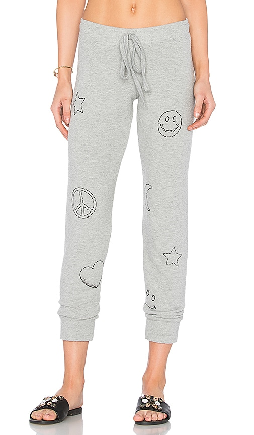 Lauren Moshi Kizzy Stitched Elements Sweatpant in Gray
