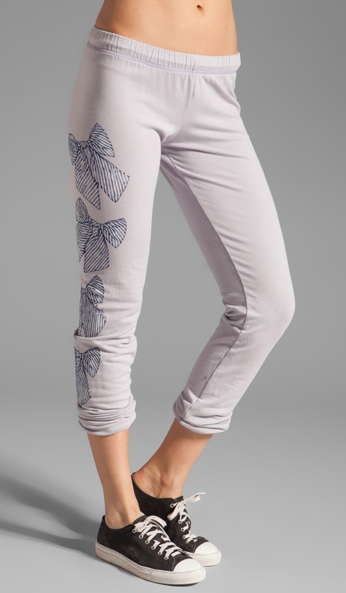 Demi Color Bow Leg Sweat Pants