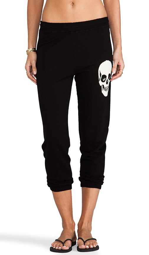Birdy Small Skull Face Crop Sweat Pant