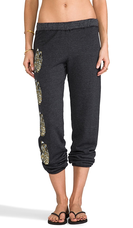Gia Color Mirror Leopards Leg Sweatpants