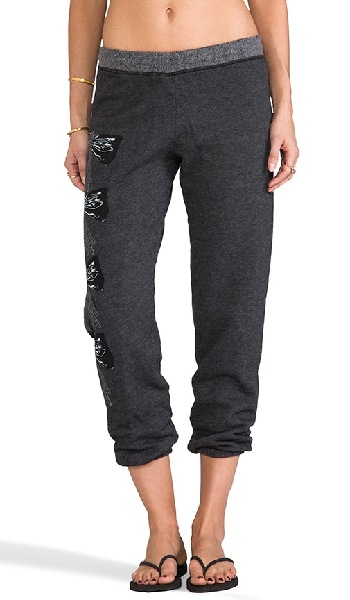 Gia Color Chain Bow Leg Sweatpants