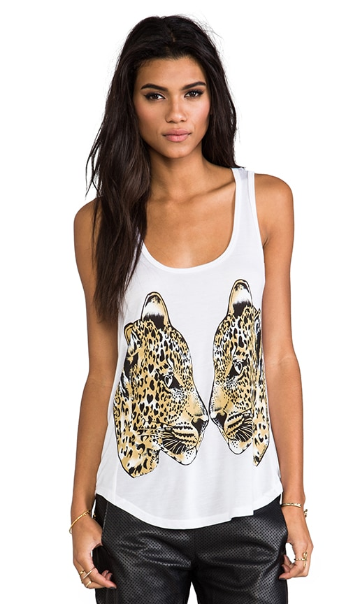 Bessy Color Mirror Leopard Tank