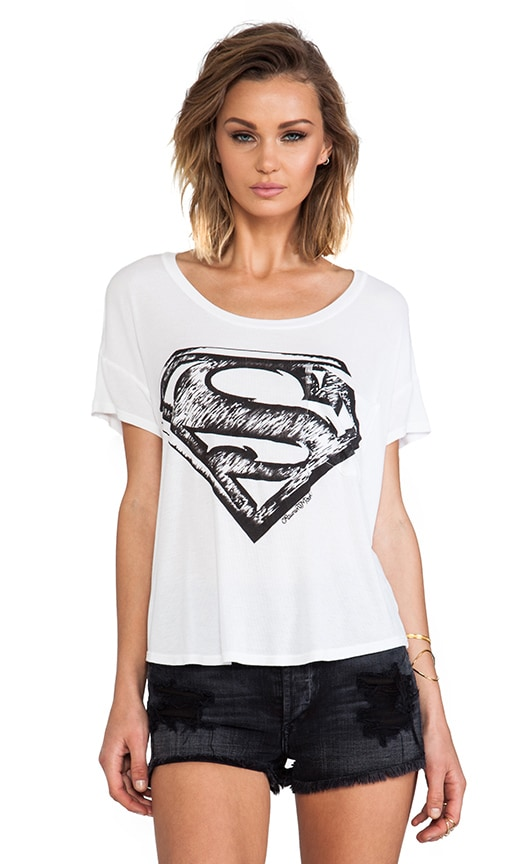 Pam Superman Scoop Tee