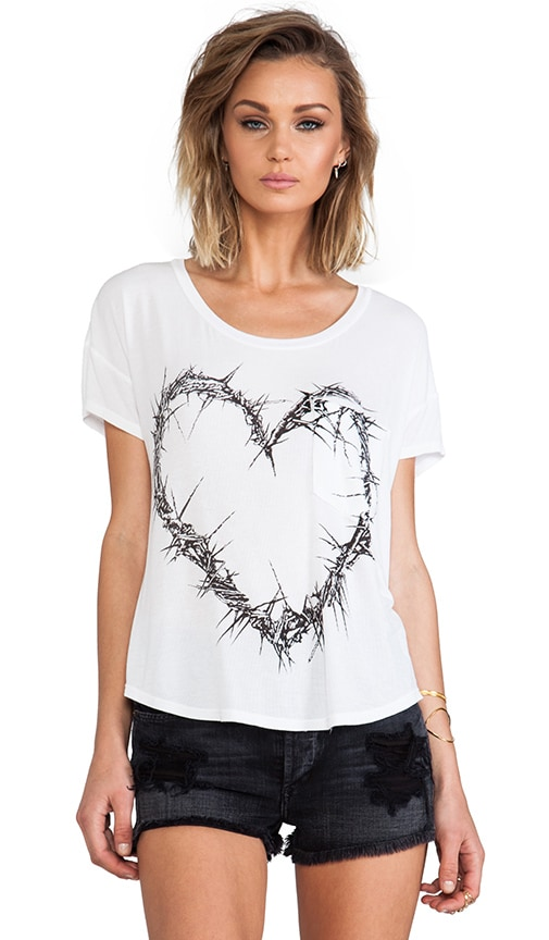 Pam Thorn Heart Scoop Tee