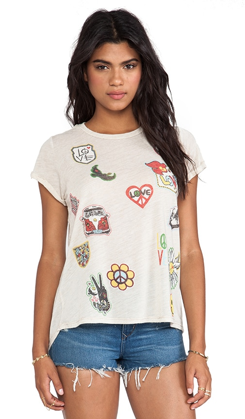 Edda Patches Vintage Roll Up Tee