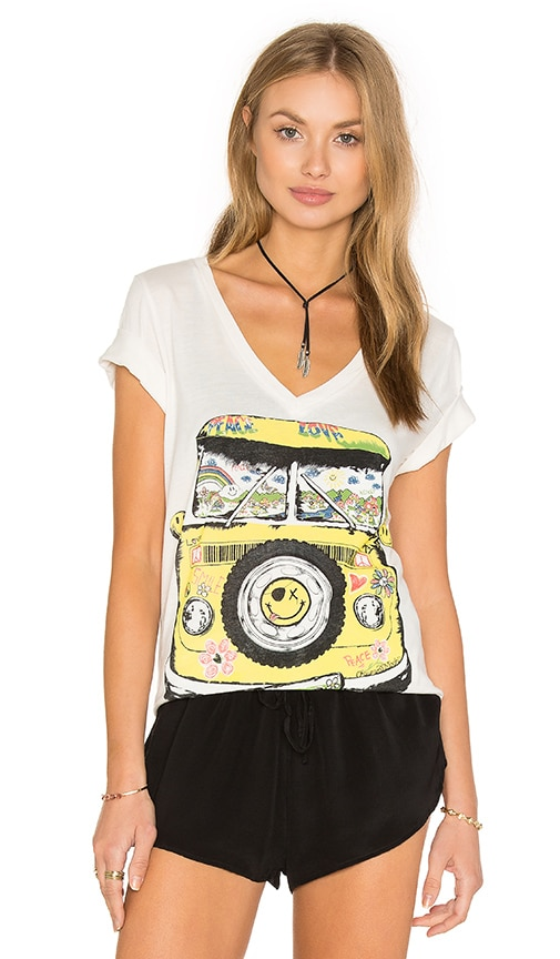 Lauren Moshi Juju V-Neck Tee in Ivory