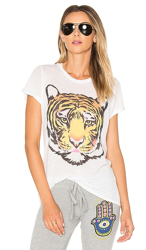 Lauren Moshi Edda Wild Tiger Tee in White