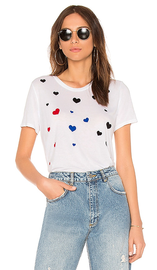 Lauren Moshi Kelis Fallen Hearts Tee in White