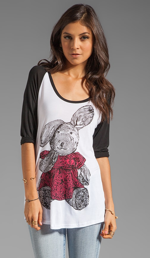 Frankie Color Bunny Baseball Tee