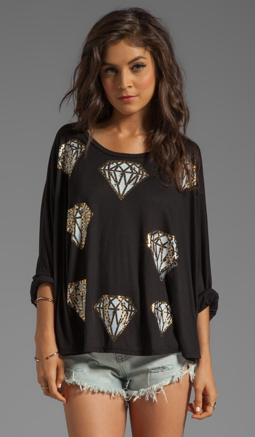 Angel Mini Diamonds Oversized Cape Tee