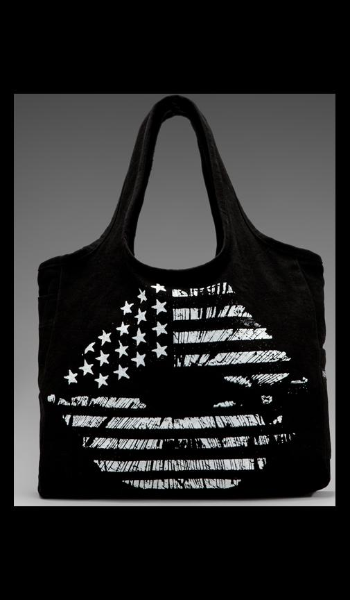 Taylor Flag Lip Canvas Tote